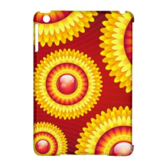 Floral Abstract Background Texture Apple Ipad Mini Hardshell Case (compatible With Smart Cover)