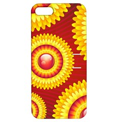 Floral Abstract Background Texture Apple Iphone 5 Hardshell Case With Stand