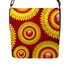 Floral Abstract Background Texture Flap Messenger Bag (l)