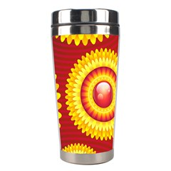 Floral Abstract Background Texture Stainless Steel Travel Tumblers