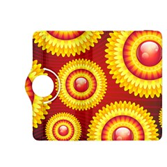 Floral Abstract Background Texture Kindle Fire Hdx 8 9  Flip 360 Case
