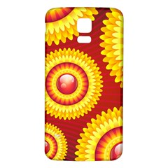 Floral Abstract Background Texture Samsung Galaxy S5 Back Case (white)