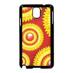 Floral Abstract Background Texture Samsung Galaxy Note 3 Neo Hardshell Case (black)