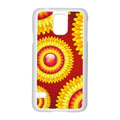 Floral Abstract Background Texture Samsung Galaxy S5 Case (white)