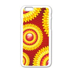 Floral Abstract Background Texture Apple Iphone 6/6s White Enamel Case