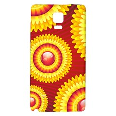 Floral Abstract Background Texture Galaxy Note 4 Back Case