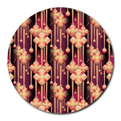 Seamless Pattern Patterns Round Mousepads