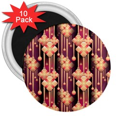 Seamless Pattern Patterns 3  Magnets (10 Pack)