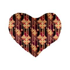 Seamless Pattern Patterns Standard 16  Premium Heart Shape Cushions