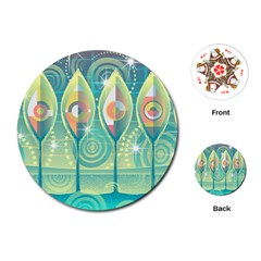 Background Landscape Surreal Playing Cards (round)