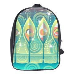 Background Landscape Surreal School Bag (large)