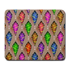 Abstract Background Colorful Leaves Large Mousepads