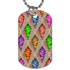 Abstract Background Colorful Leaves Dog Tag (one Side)
