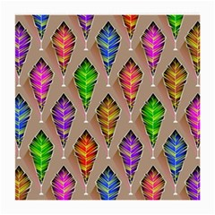 Abstract Background Colorful Leaves Medium Glasses Cloth (2 Side)