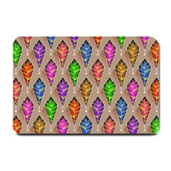 Abstract Background Colorful Leaves Small Doormat
