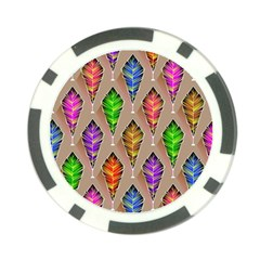 Abstract Background Colorful Leaves Poker Chip Card Guard (10 Pack)