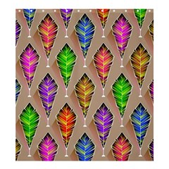 Abstract Background Colorful Leaves Shower Curtain 66  X 72  (large)