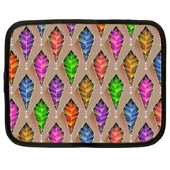 Abstract Background Colorful Leaves Netbook Case (xxl)