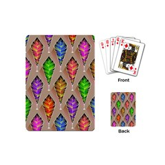 Abstract Background Colorful Leaves Playing Cards (mini)