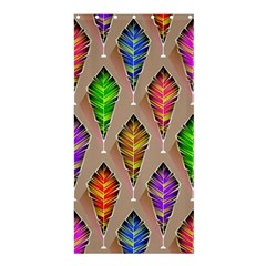 Abstract Background Colorful Leaves Shower Curtain 36  X 72  (stall)