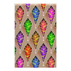 Abstract Background Colorful Leaves Shower Curtain 48  X 72  (small)