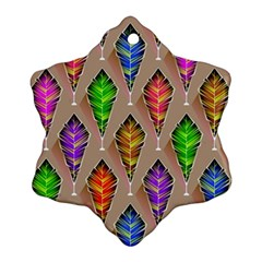 Abstract Background Colorful Leaves Ornament (snowflake)