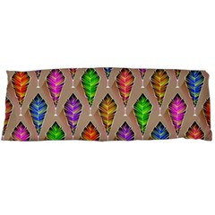 Abstract Background Colorful Leaves Body Pillow Case (dakimakura)