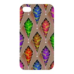 Abstract Background Colorful Leaves Apple Iphone 4/4s Premium Hardshell Case