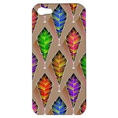 Abstract Background Colorful Leaves Apple Iphone 5 Hardshell Case