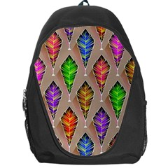 Abstract Background Colorful Leaves Backpack Bag