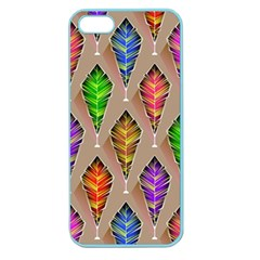 Abstract Background Colorful Leaves Apple Seamless Iphone 5 Case (color)