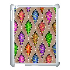 Abstract Background Colorful Leaves Apple Ipad 3/4 Case (white)