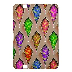 Abstract Background Colorful Leaves Kindle Fire Hd 8 9