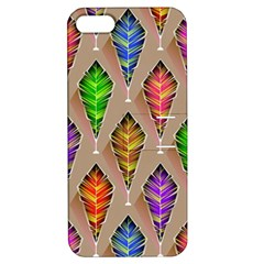 Abstract Background Colorful Leaves Apple Iphone 5 Hardshell Case With Stand