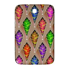 Abstract Background Colorful Leaves Samsung Galaxy Note 8 0 N5100 Hardshell Case