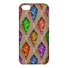 Abstract Background Colorful Leaves Apple Iphone 5c Hardshell Case