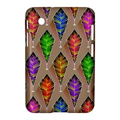 Abstract Background Colorful Leaves Samsung Galaxy Tab 2 (7 ) P3100 Hardshell Case