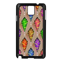 Abstract Background Colorful Leaves Samsung Galaxy Note 3 N9005 Case (black)