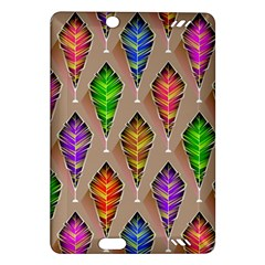 Abstract Background Colorful Leaves Amazon Kindle Fire Hd (2013) Hardshell Case