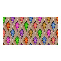 Abstract Background Colorful Leaves Satin Shawl