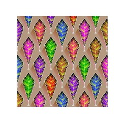 Abstract Background Colorful Leaves Small Satin Scarf (square)