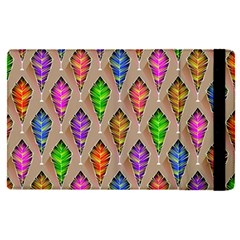 Abstract Background Colorful Leaves Apple Ipad Pro 9 7   Flip Case