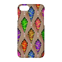 Abstract Background Colorful Leaves Apple Iphone 7 Hardshell Case