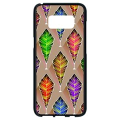 Abstract Background Colorful Leaves Samsung Galaxy S8 Black Seamless Case