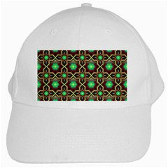 Pattern Background Bright Brown White Cap