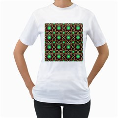Pattern Background Bright Brown Women s T Shirt (white) (two Sided)