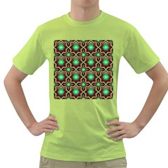 Pattern Background Bright Brown Green T Shirt