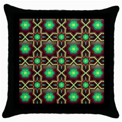 Pattern Background Bright Brown Throw Pillow Case (black)