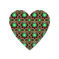 Pattern Background Bright Brown Heart Magnet