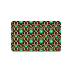 Pattern Background Bright Brown Magnet (name Card)